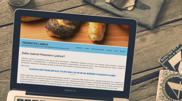 izrada sajta konsalting u pekarstvu