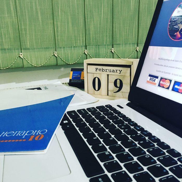 calendar laptop