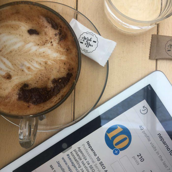 coffee tablet ipad