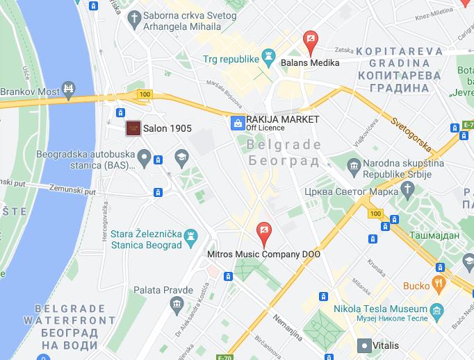 Beograd primer oglasa na Google mapi