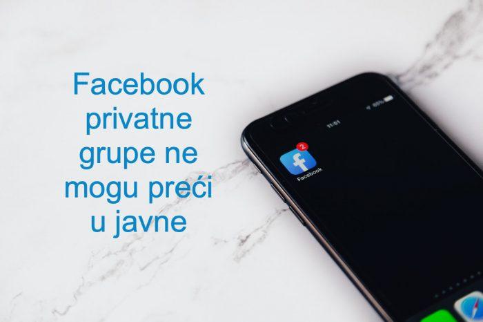 Facebook privatne grupe
